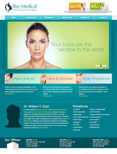Bay Medical Plastic Surgery website