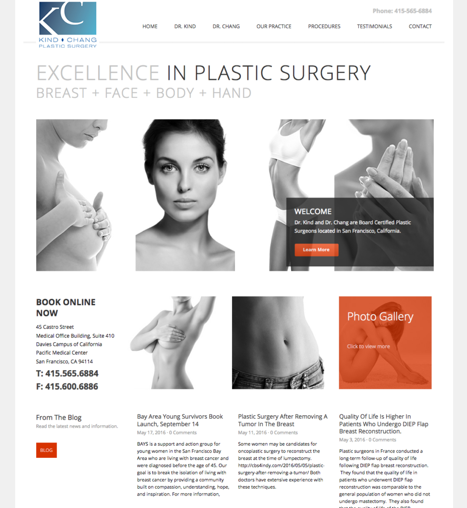 Kind Chang Plastic Surgery Website