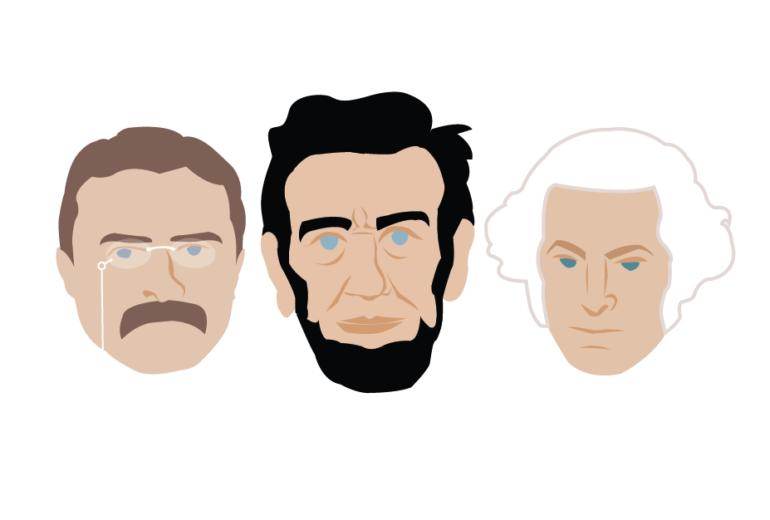 dead presidents heads